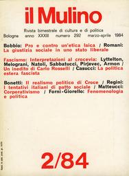 Copertina del fascicolo dell'articolo La resistenza di un filosofo