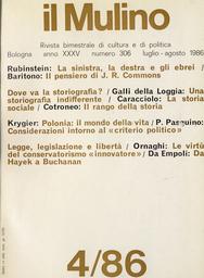 Copertina del fascicolo dell'articolo Innovazione e stagnazione nella storia sociale durante gli ultimi decenni in Italia