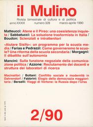 Copertina del fascicolo dell'articolo Un intervento