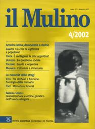 Copertina del fascicolo dell'articolo Memoria e funerali. Da piazza Fontana a Enrico Baj, 1969-2000