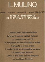 Copertina del fascicolo dell'articolo La contestazione del '15