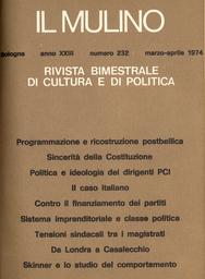 Copertina del fascicolo dell'articolo Sistema imprenditoriale e classe politica in Italia