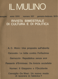 Copertina del fascicolo dell'articolo Una proposta sull'aborto