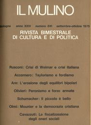 Copertina del fascicolo dell'articolo Movimento operaio, organizzazione del lavoro, qualifiche: i risultati di una ricerca della FLM di Bologna