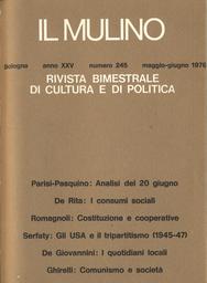 Copertina del fascicolo dell'articolo Cominismo e società: la classe dirigente del PCI vent'anni dopo