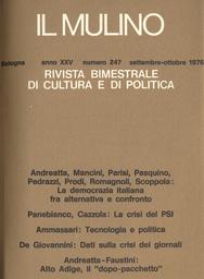 Copertina del fascicolo dell'articolo La democrazia italiana fra alternativa e confronto