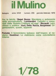 Copertina del fascicolo dell'articolo Cattolici e comunisti: il problema della laicità dalla Sinistra Cristiana alle prospettive attuali