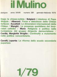 Copertina del fascicolo dell'articolo Religione e politica nella formazione del gruppo dirigente democristiano