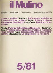 Copertina del fascicolo dell'articolo Il sublime del fascismo e la critica del riso