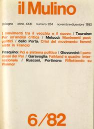 Copertina del fascicolo dell'articolo La crisi del movimento femminista in Francia: tra pragmatismo riformatore e rivolta culturale